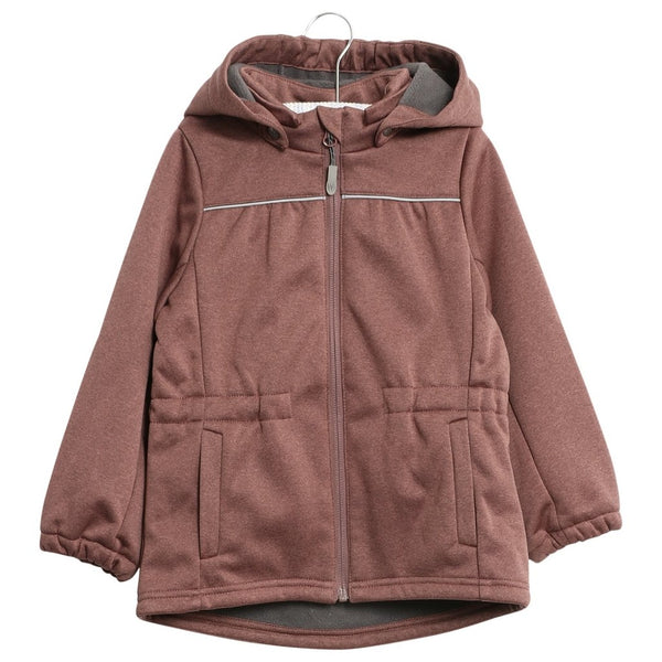 "Wheat Softshell Jacket Aya ""Plum"""