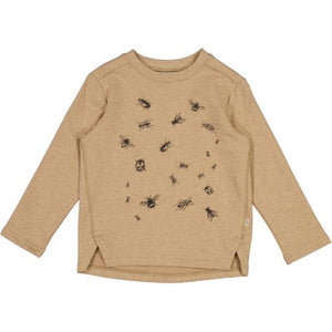 Wheat Kids Clothing Sweatshirt Insects Sand Melange
