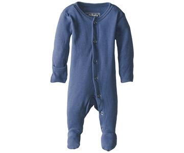 "Loved Baby Footed Sleeper ""Slate"""