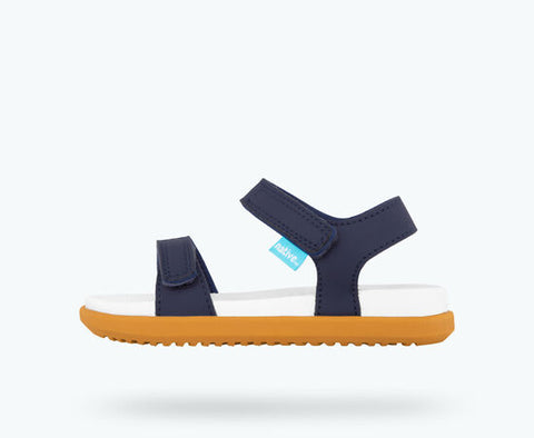 "Native Charlie Sandal ""Regatta Blue/Shell White"""