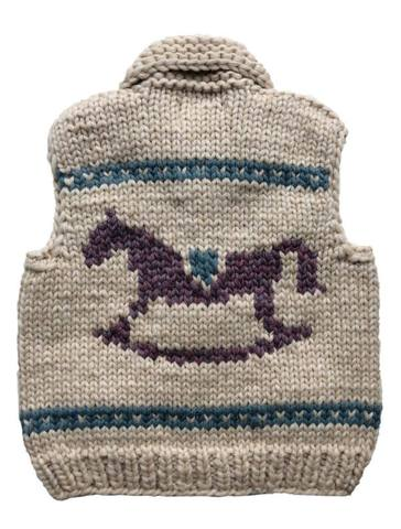 "Granted Sweater Vest ""Rocking Horse"""