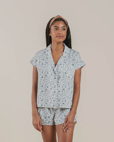 "Rylee and Cru Women's Pajama Set ""Blue Floral"""