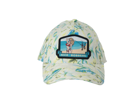 Nice Bobbers Hat Tropical Print