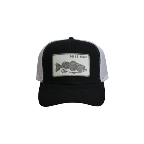 Bass Man Patch Hat Black
