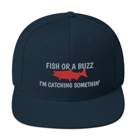 Fish or Buzz Snapback Hat