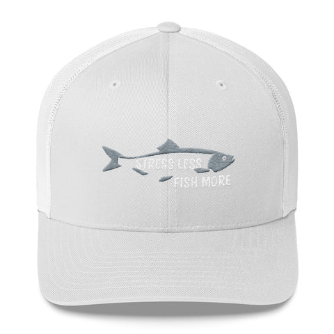 Stress Less Fish More Trucker Hat