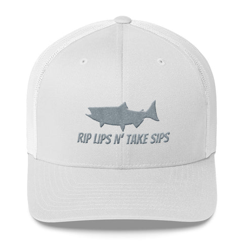 RIPS LIPS N' TAKE SIPS TRUCKER HAT