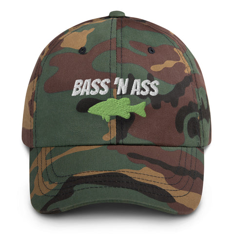 Bass 'N Ass Camo Dad hat
