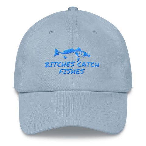 Bitches Catch Fishes Redfish Hat Blue