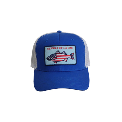 Stars and Stripers Patch Hat Blue