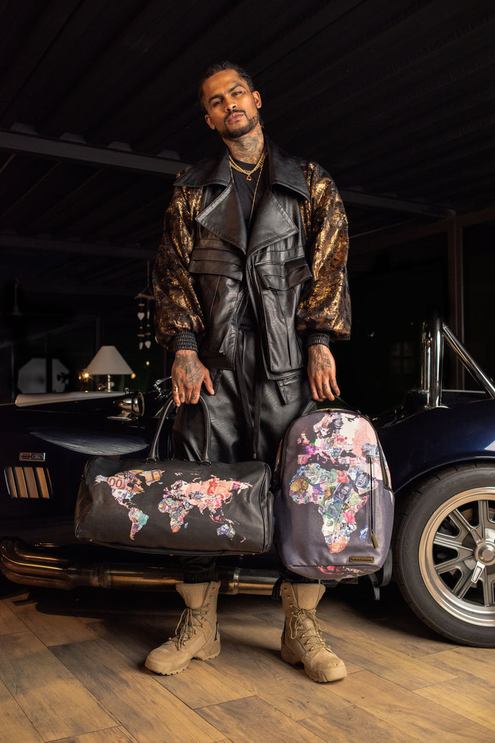 LIMITED EDITION 'GLOBAL MONEY' BACKPACK COLLABORATION WITH DAVE EAST