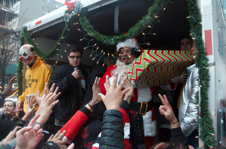 We Shut Down NYC's SoHo Area With Our Spaghetti Boys Collaboration Christmas Giveaway!