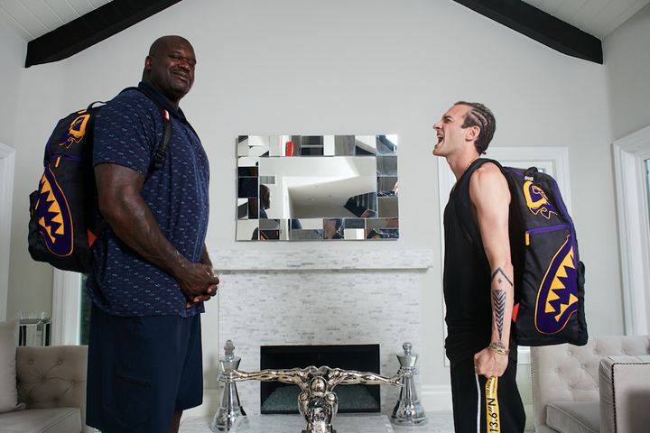 Sprayground & Shaq Just Launched The Largest Backpack Ever