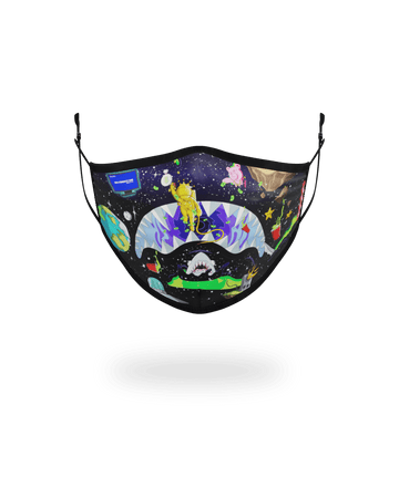 ADULT ASTRO PARTY FORM-FITTING FACE MASK