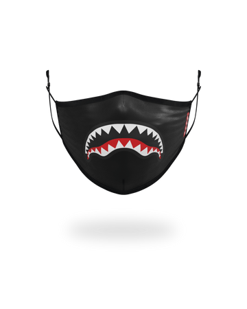 ADULT SHARK LOGO (BLACK) FORM-FITTING FACE MASK