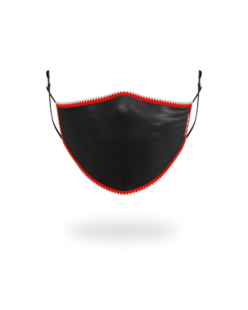 ADULT VERTICAL SHARK (BLACK) FORM-FITTING FACE MASK