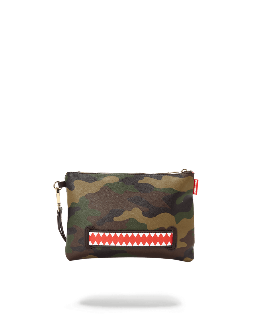 CHECKS IN CAMOFLAUGE CROSSOVER CLUTCH