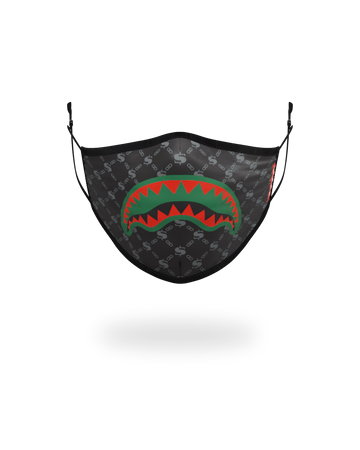 ADULT SPUCCI (BLACK) FORM-FITTING FACE MASK