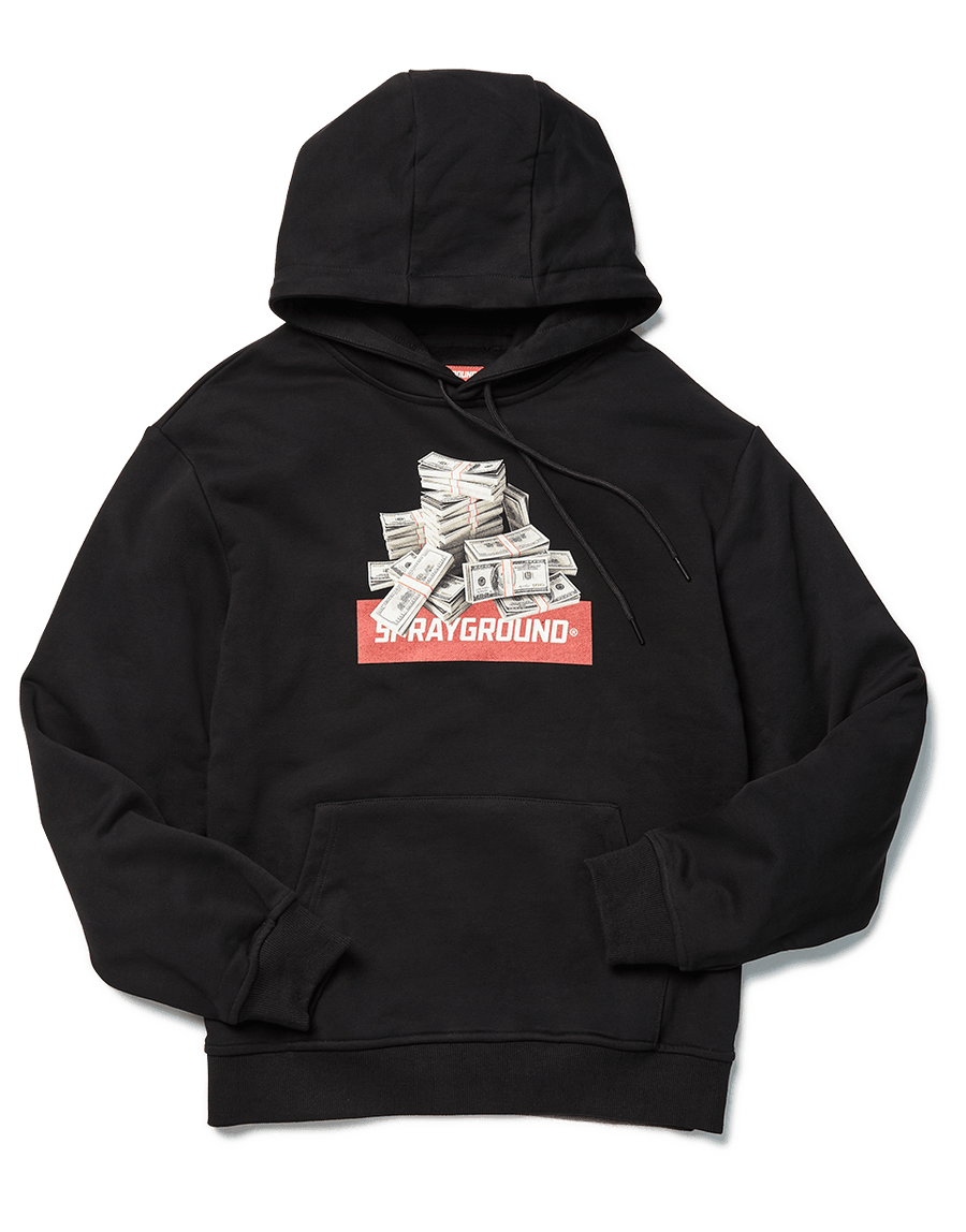 SPRAYGROUND- SPRAYGROUND APPLIQUE HOODIE (BLACK) APPAREL
