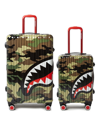 SPRAYGROUND- FULL-SIZE CAMO CARRY-ON CAMO LUGGAGE BUNDLE LUGGAGE