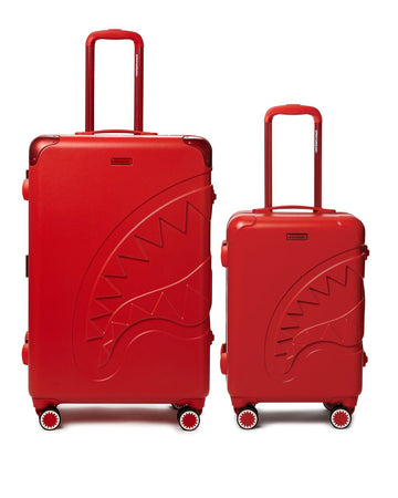 SPRAYGROUND- FULL-SIZE RED CARRY-ON RED LUGGAGE BUNDLE LUGGAGE