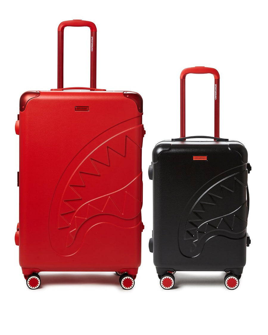 SPRAYGROUND- FULL-SIZE RED CARRY-ON BLACK LUGGAGE BUNDLE LUGGAGE