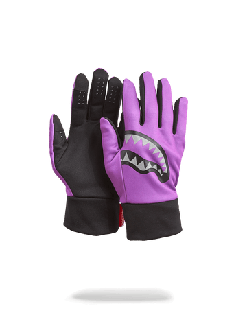 SPRAYGROUND- PURPLE 3M SHARK MOUTH GLOVES GLOVES