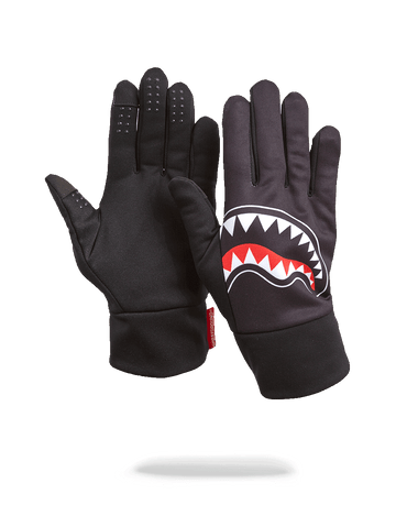 SPRAYGROUND- BLACK SHARK MOUTH GLOVES GLOVES