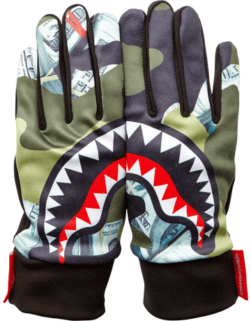 SPRAYGROUND- MONEY CAMO GLOVES GLOVES