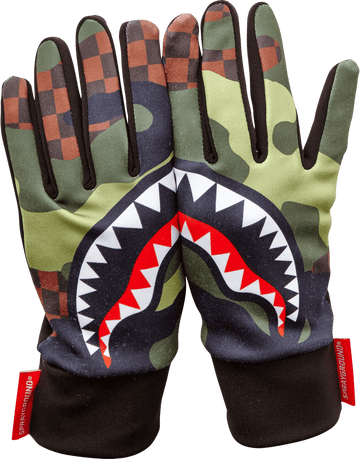 SPRAYGROUND- CHECKER CAMO GLOVES GLOVES