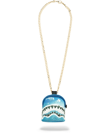 SPRAYGROUND- SHARK ISLAND BACKPACK CHAIN NECKLACE