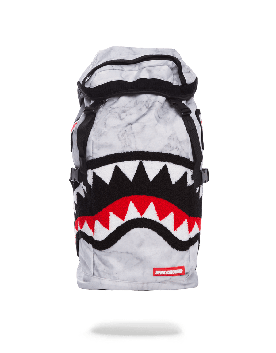 SPRAYGROUND- WHITE MARBLE TOP LOADER BACKPACK