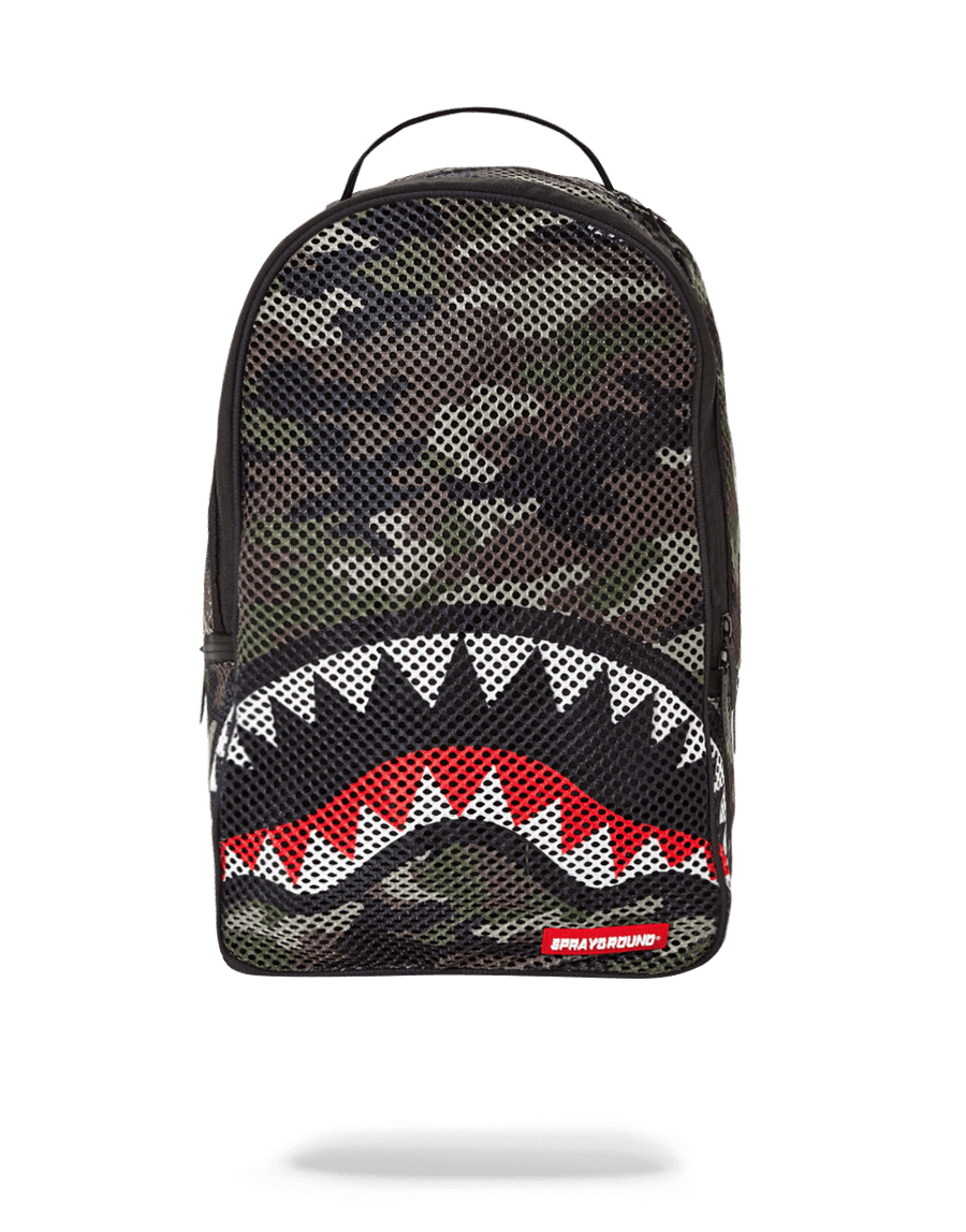 SPRAYGROUND- CAMO MESH SHARK BACKPACK