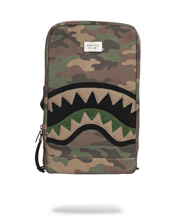 SPRAYGROUND- CUT & SEW SHARK SMARTPACK (CAMO) BACKPACK