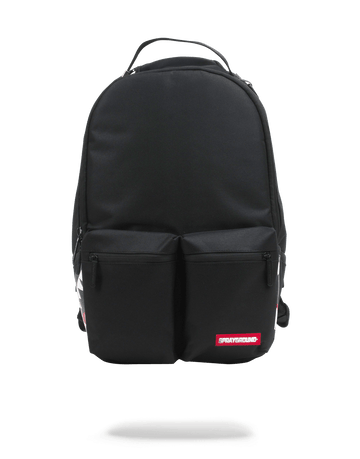 SPRAYGROUND- DOUBLE CARGO SIDE SHARK (BLACK) BACKPACK