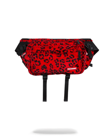 SPRAYGROUND- RED LEOPARD CROSSBODY TRANSPORTER CROSS BODY