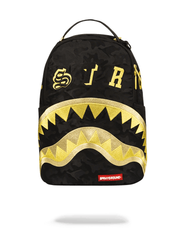 SPRAYGROUND- DESTROY SHARK (GOLD CAMO) BACKPACK