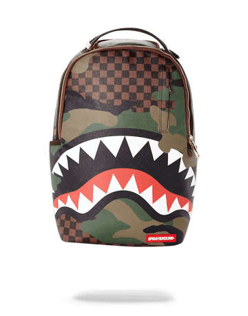 SPRAYGROUND- SHARKS IN PARIS (CAMO EDITION) BACKPACK