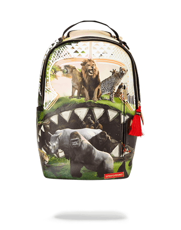 SPRAYGROUND- SERENGETI SHARK BACKPACK