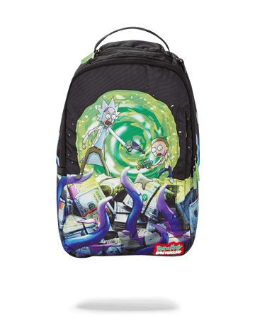 SPRAYGROUND- RICK & MORTY ALIEN ATTACK BACKPACK