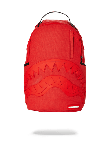 SPRAYGROUND- RED GHOST RUBBER SHARK BACKPACK