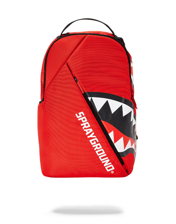SPRAYGROUND- ANGLED SHARK (RED) BACKPACK