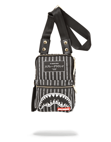 SPRAYGROUND- REVERSE BLACK SHARKS IN PARIS SLING SLING