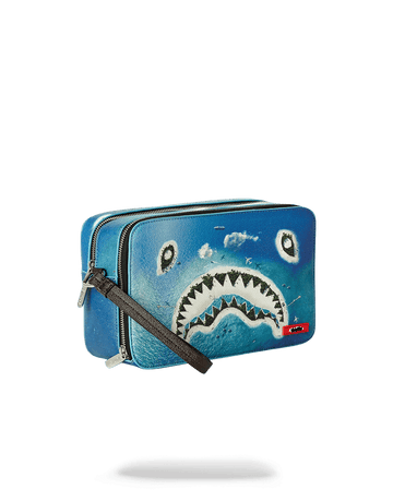SPRAYGROUND- SHARK ISLAND TOILETRY AKA MONEY BAG TOILETRY