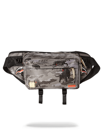 SPRAYGROUND- BLACK PANTHERA CAMO CROSSBODY CROSS BODY