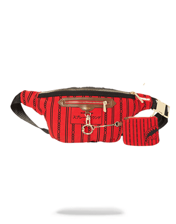 SPRAYGROUND- REVERSE SHARKS IN PARIS CROSSBODY (RED) CROSS BODY