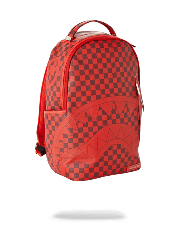 SPRAYGROUND- SHARKS IN PARIS (RED CHECKERED EDITION) BACKPACK