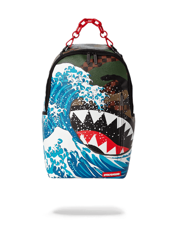SPRAYGROUND- CAMOKAWA WAVE SHARK BACKPACK