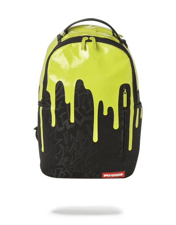 SPRAYGROUND- GREEN NEON DRIP BACKPACK (ONE OF ONE) BACKPACK