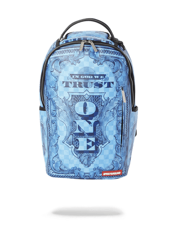 IN GOD WE TRUST BLUE BACKPACK (ONE OF ONE)